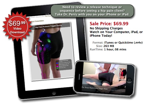 """Trigger Point Video Download for Hip Pain"""