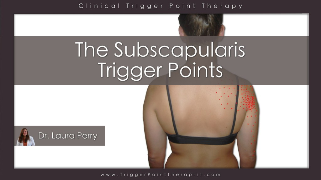 Subscapularis Trigger Point Video